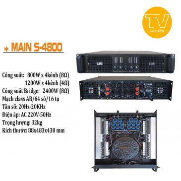 Cục đẩy công suất 4 kênh AAP S-4800